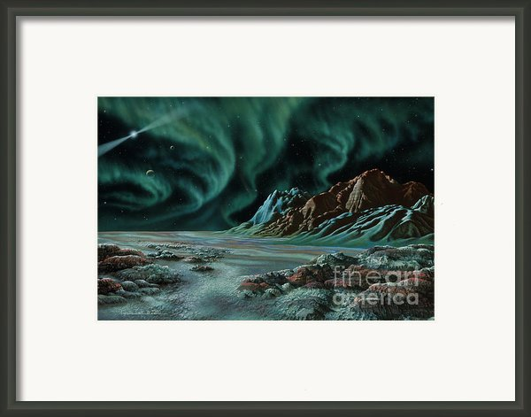 Pulsar Planets I Framed Print By Lynette Cook