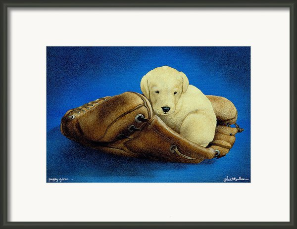 Puppy Glove... Framed Print By Will Bullas