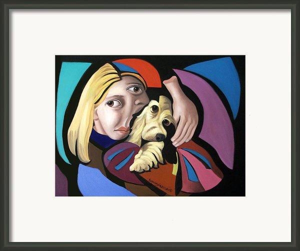 Puppy Love Framed Print By Anthony Falbo
