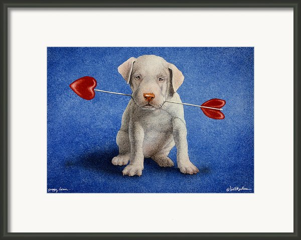Puppy Lover... Framed Print By Will Bullas