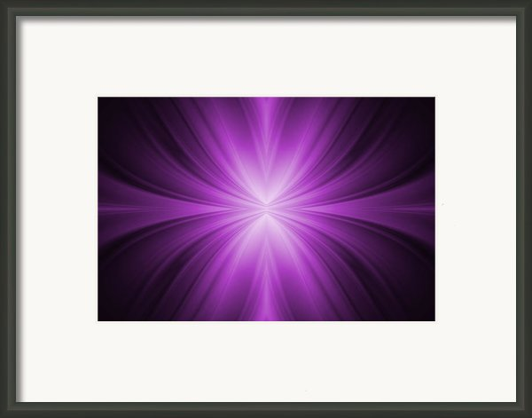 Purple Abstract Background Framed Print By Somkiet Chanumporn