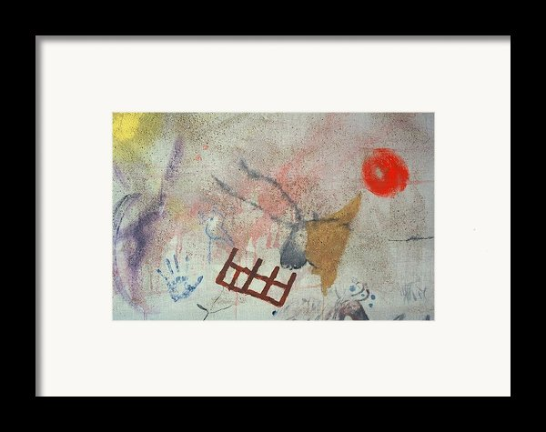 Purple Angel Cave Painting With Bull Framed Print By Jay Kyle Petersen