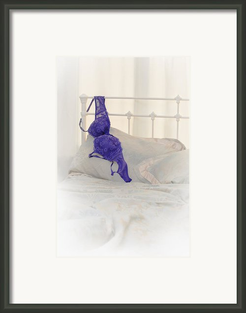 Purple Bra Framed Print By Christopher And Amanda Elwell