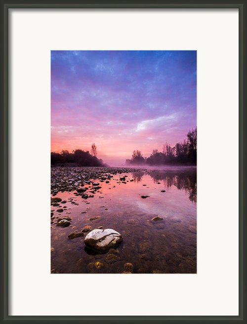 Purple Dawn Framed Print By Davorin Mance