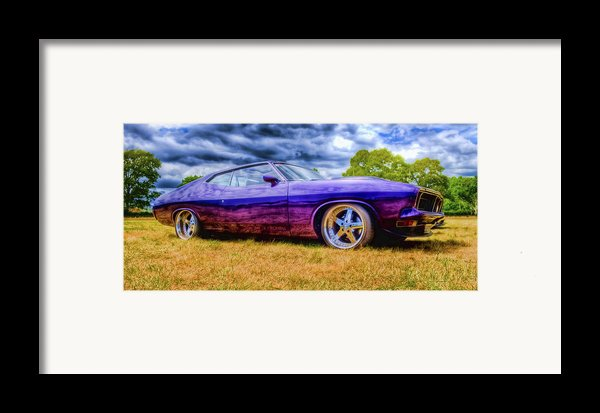 Purple Falcon Coupe Framed Print By Phil