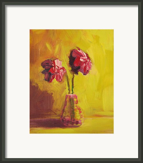 Purple Flowers Framed Print By Patricia Awapara