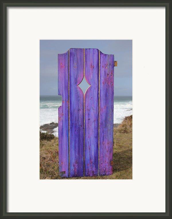 Purple Gateway To The Sea  Framed Print By Asha Carolyn Young