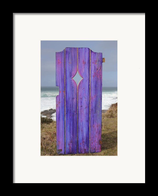 Purple Gateway To The Sea  Framed Print By Asha Carolyn Young