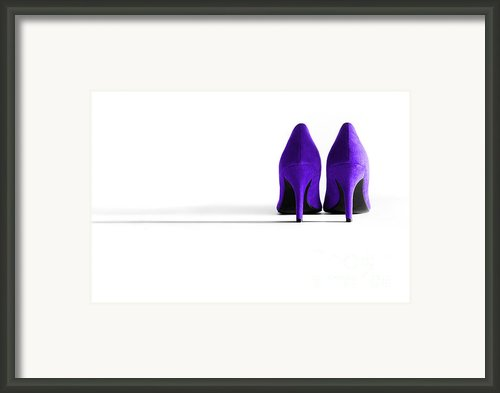 Purple High Heel Shoes Framed Print By Natalie Kinnear