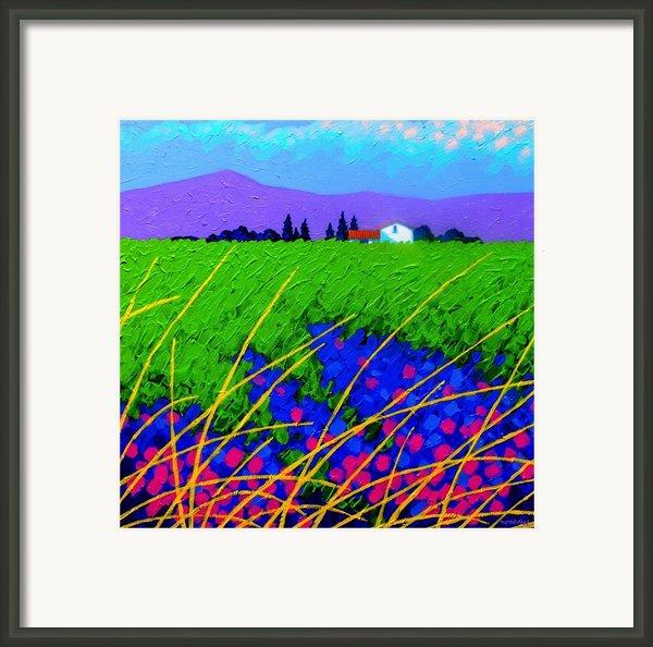 Purple Hills Framed Print By John  Nolan