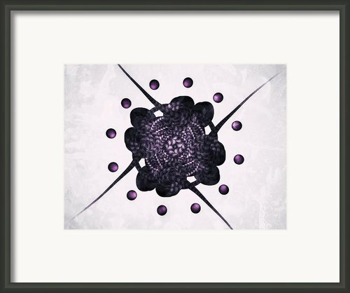 Purple Framed Print By Michael Jordan
