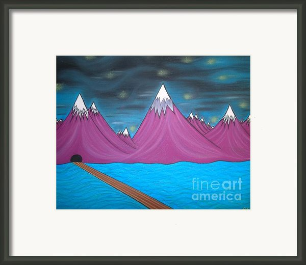 Purple Mountains Framed Print By Robert Nickologianis