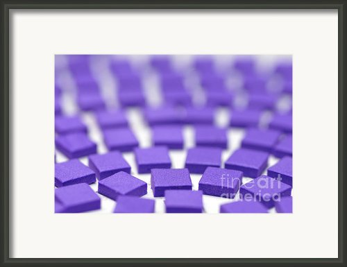 Purple Pattern Framed Print By Amy Cicconi