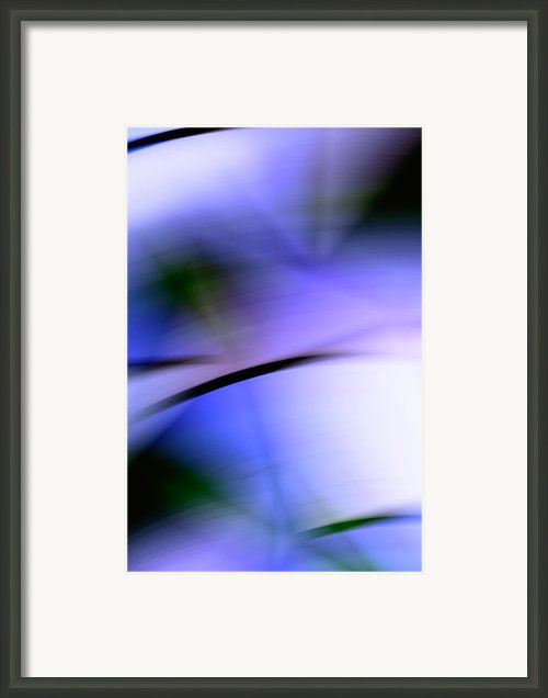 Purple Slices - Abstract Art Framed Print By Laria Saunders