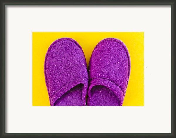 Purple Slippers Framed Print By Tom Gowanlock