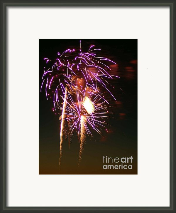 Purple Trees Framed Print By Optical Playground By Mp Ray