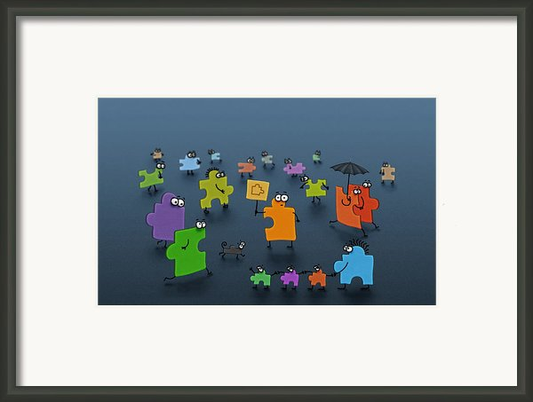 Puzzle Family Framed Print By Sanely Great
