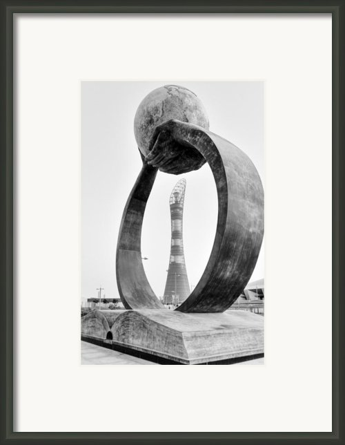 Qatari Art At Aspire Zone Framed Print By Paul Cowan