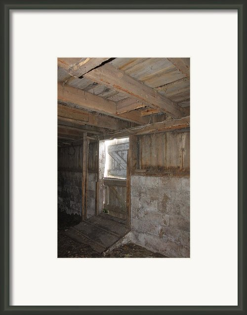 Quaker Barn Double Door Framed Print By Karen Ament
