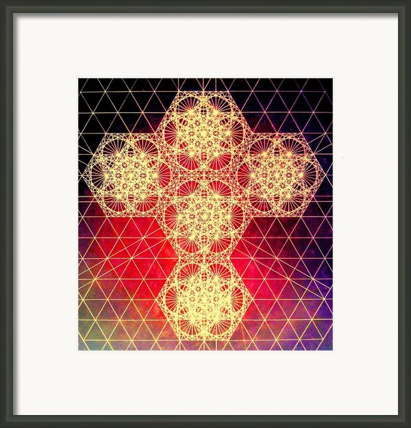 Quantum Cross Hand Drawn Framed Print By Jason Padgett