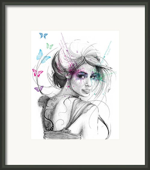 Queen Of Butterflies Framed Print By Olga Shvartsur