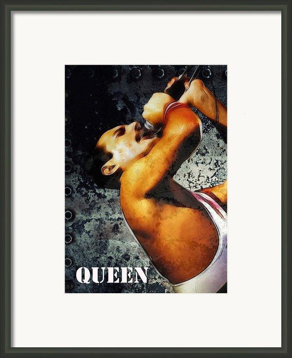 Queen We Will Rock You Framed Print By Stefan Kuhn