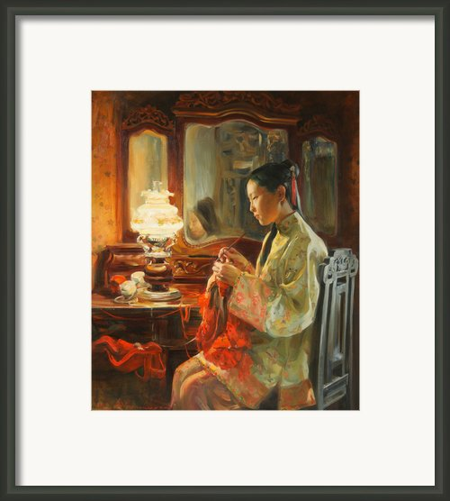Quiet Evening Framed Print By Victoria Kharchenko