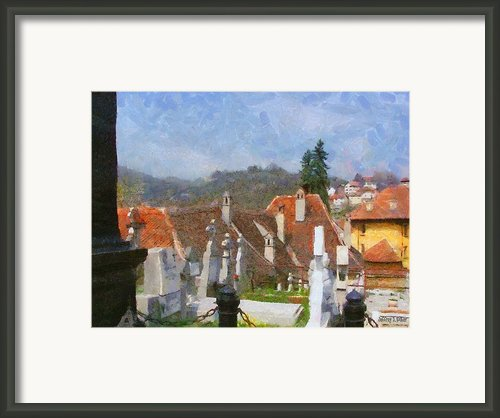 Quiet Neighbors Framed Print By Jeff Kolker