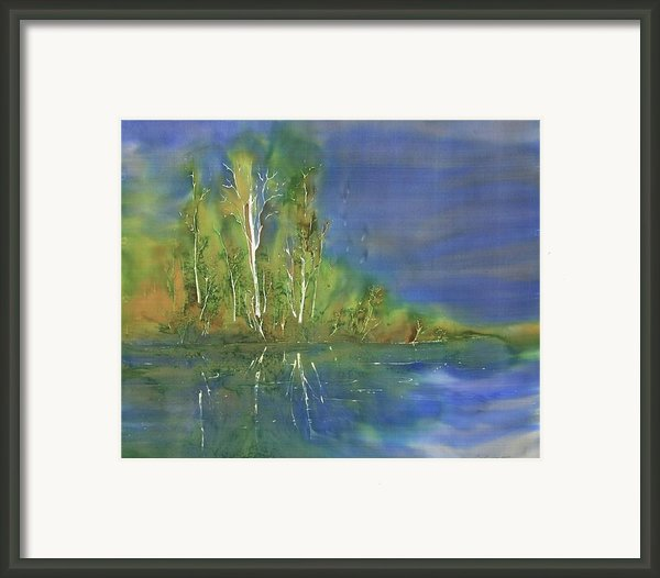 Quiet Stream  Framed Print By Carolyn Doe