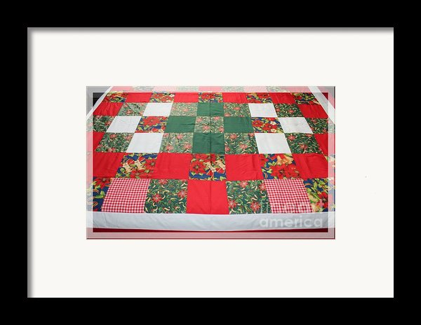 Quilt Christmas Blocks Framed Print By Barbara Griffin