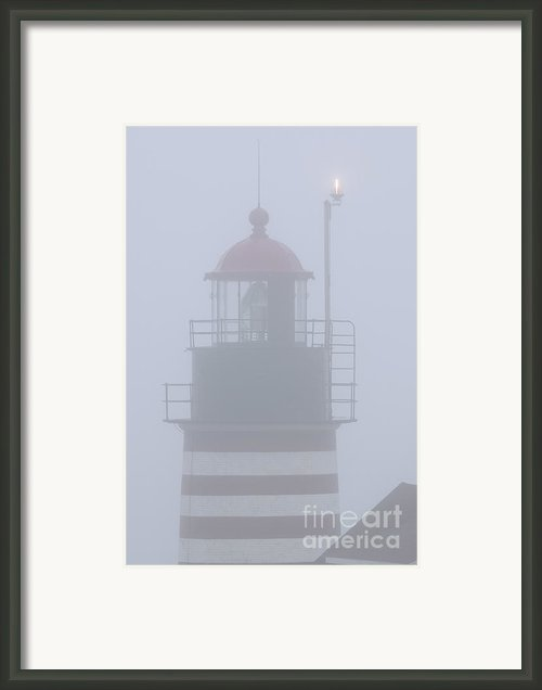 Quoddy Fail-safe For Beacon Off Framed Print By Marty Saccone