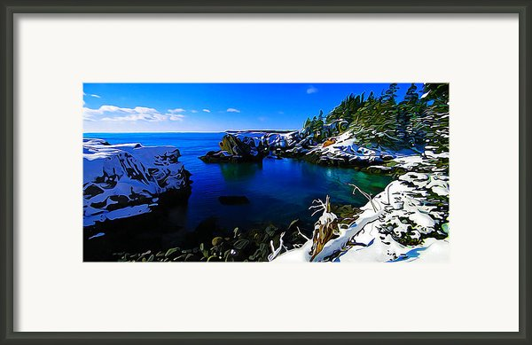 Quoddy Head Snow Framed Print By Bill Caldwell -        Abeautifulsky Photography