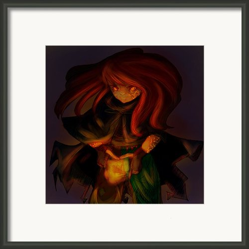 Radiating Light - Original Artwork By Amy Manley  Framed Print By Gina Manley