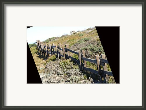 Rail Fence Black Framed Print By Barbara Snyder