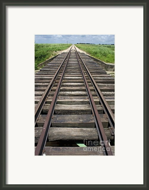 Railroad Tracks Framed Print By Sami Sarkis