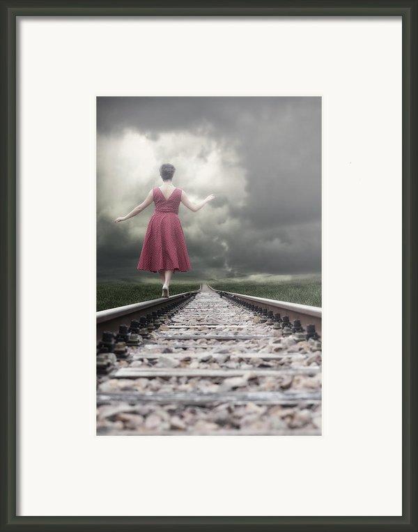 Railway Tracks Framed Print By Joana Kruse