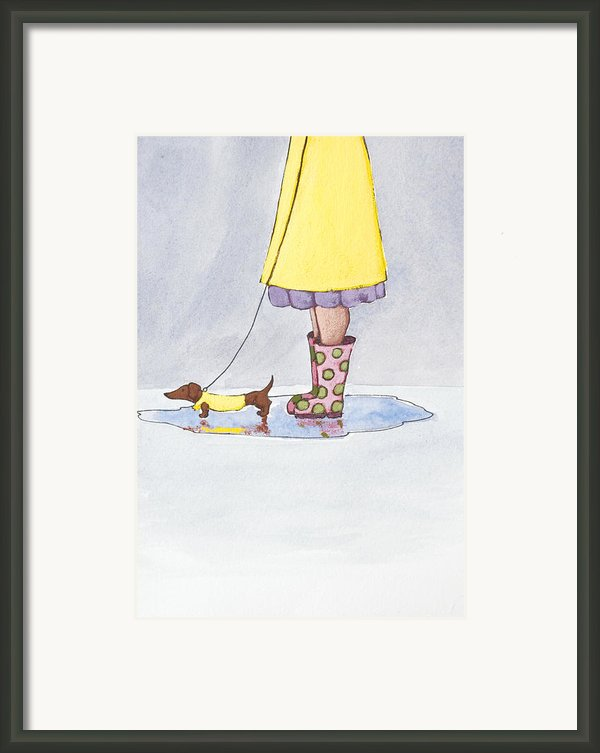 Rain Boots Framed Print By Christy Beckwith