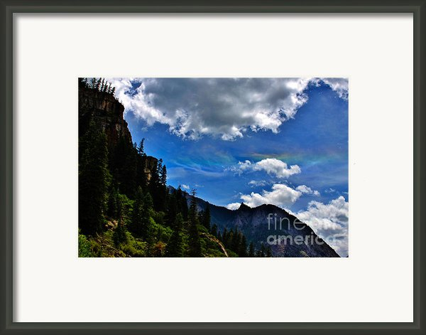 Rainbow Clouds Above Ouray Colorado Framed Print By Janice Rae Pariza