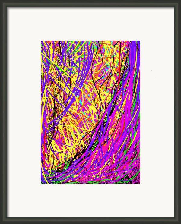 Rainbow Divine Fire Light Framed Print By Daina White