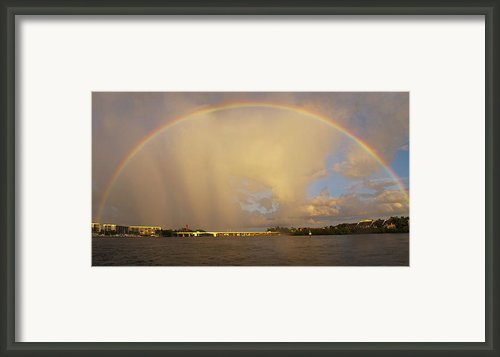 Rainbow Jupiter Inlet Framed Print By Bruce Bain