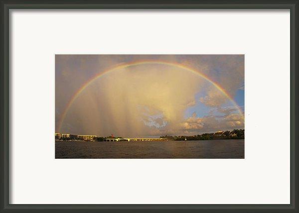 Rainbow Jupiter Inlet Framed Print By Bruce Bain