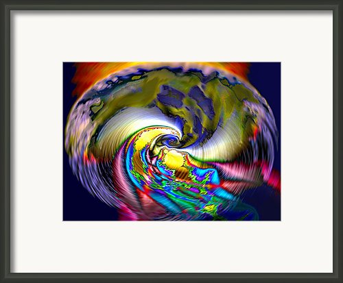 Rainbow Liberty V.5 Framed Print By Rebecca Phillips