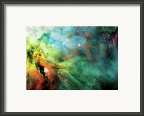 Rainbow Orion Nebula Framed Print By The  Vault