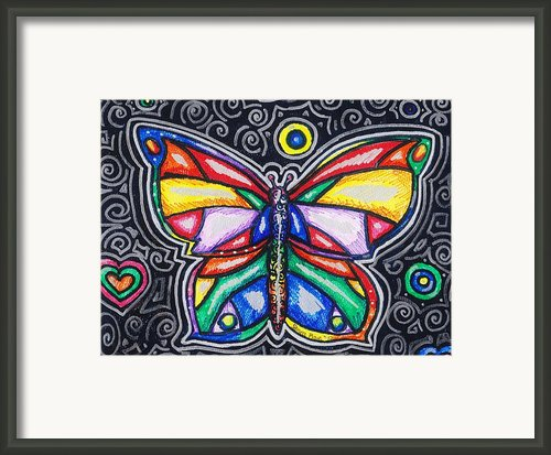 Rainbows And Butterflies Framed Print By Shana Rowe