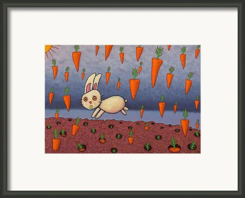Raining Carrots Framed Print By James W Johnson
