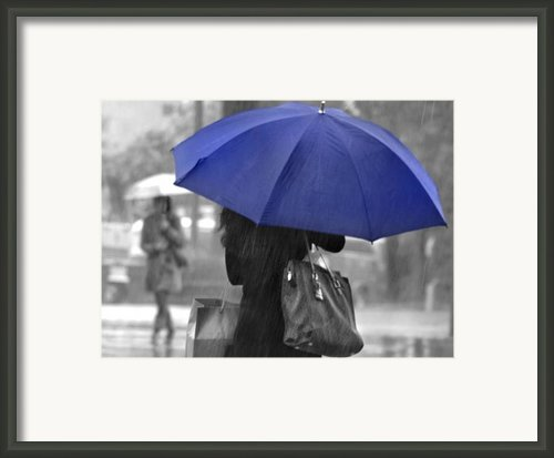 Rainy Blue Framed Print By Dan Holm