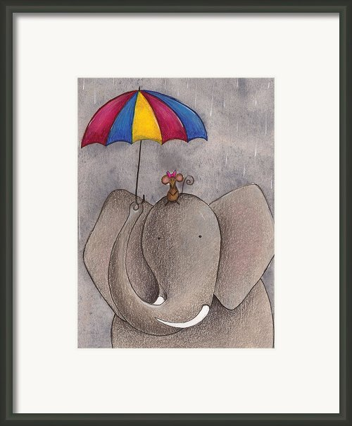 Rainy Day Framed Print By Christy Beckwith