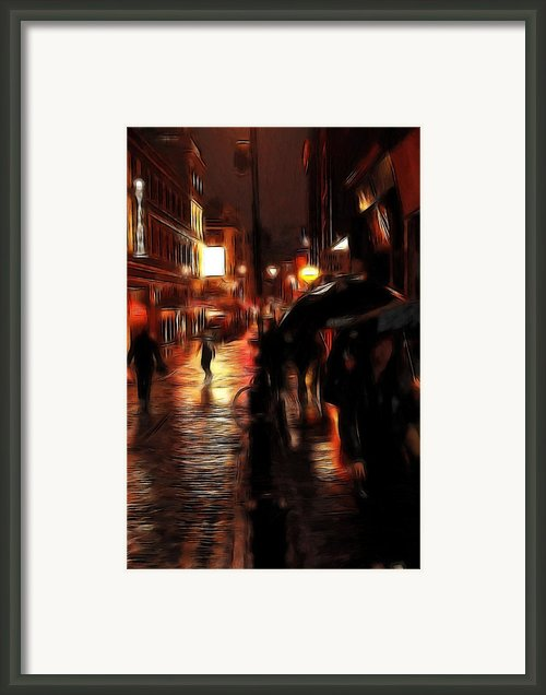 Rainy Day In Soho Framed Print By Stefan Kuhn