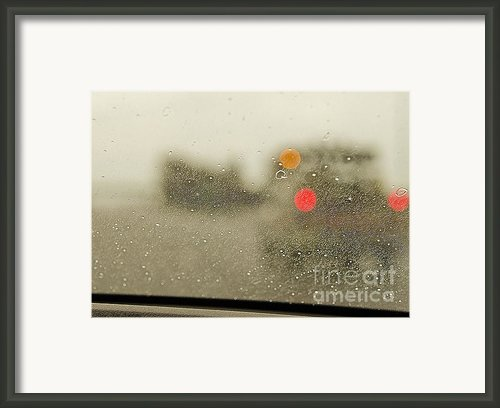 Rainy Day Perspective Framed Print By Maryjane Armstrong
