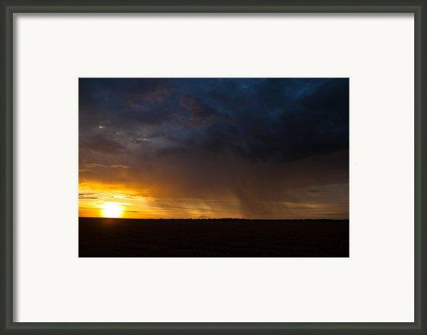 Rainy Sunset  Framed Print By Brandon  Ivey